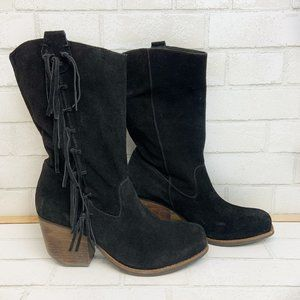 "Matisse ""El Pasa"" Suede Fringe Cowboy Boot 10M"